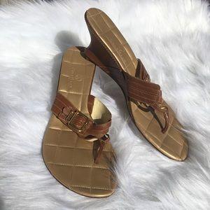 Cole Haan Kitten Heel Wedge Sandal
